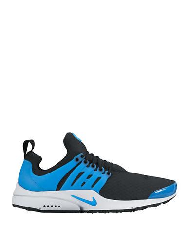 Nike Mens Air Presto Essential Shoes-BLACK/BLUE-8