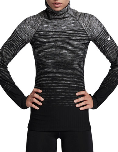 Nike Abstract Printed Long Sleeve Top-GREY-X-Small 89655460_GREY_X-Small