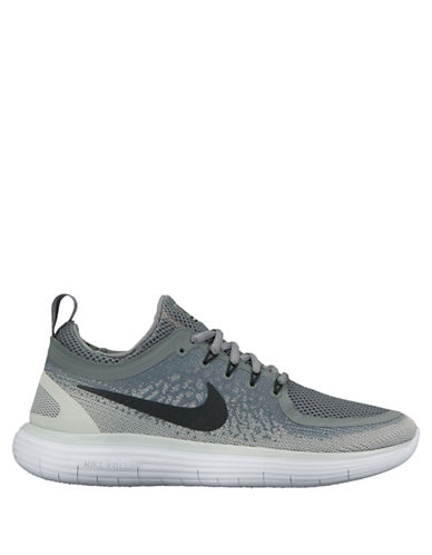 Nike Womens Free RN Distance 2 Running Shoes-GREY-7