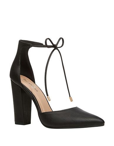 Call It Spring Galeania Block High Heels-BLACK-10