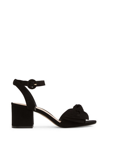 Aldo Beautie Leather Sandals-BLACK-8
