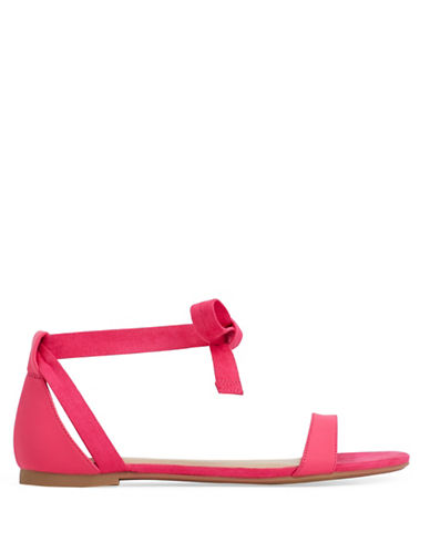 Call It Spring Caderasen Ankle Wrap Flat Sandals-MAGENTA-8