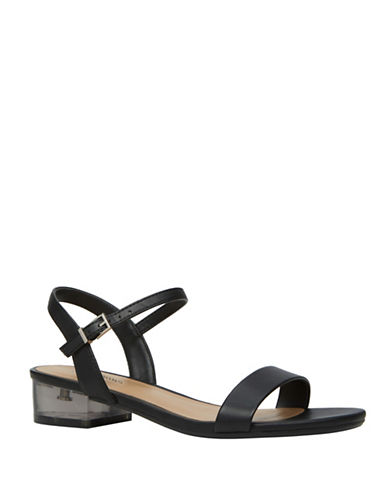 Call It Spring South Elgin Lucite Strap Sandals-BLACK-8