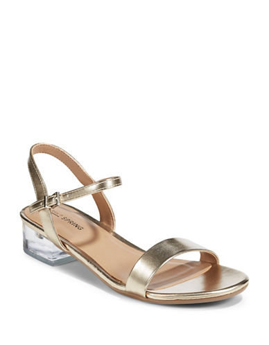 Call It Spring South Elgin Lucite Strap Sandals-BEIGE-8.5