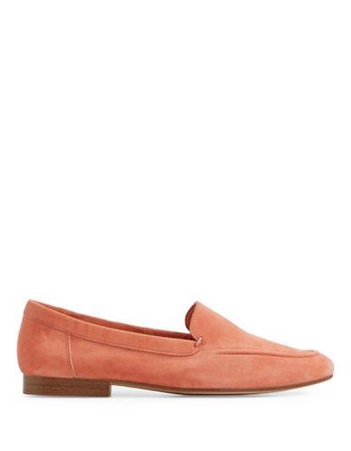 Aldo Joeya Flat Leather Loafers-PEACH-6