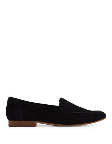 Aldo Joeya Flat Leather Loafers-BLACK-9