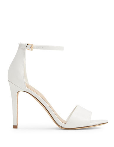 Aldo Fiolla Ankle Strap Sandals-WHITE-7.5