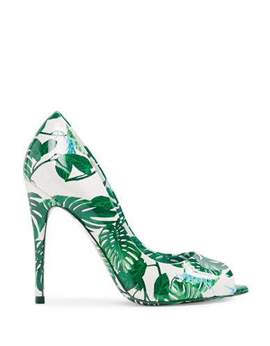 Aldo Palm Peep Toe Pumps-LIGHT GREEN-7.5