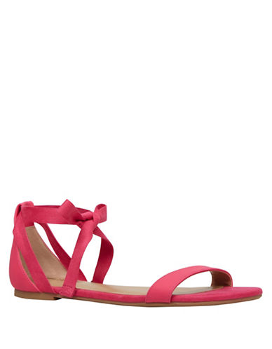 Call It Spring Caderasen Ankle Wrap Flat Sandals-PINK-9