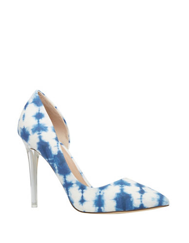 Call It Spring Thaoven Point-Toe Pumps-WHITE/BLUE-7
