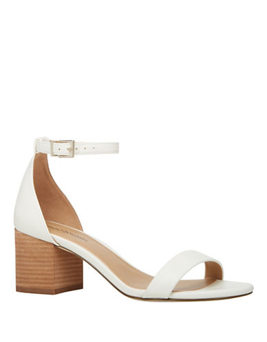Call It Spring Borewiel Stacked Heel Sandals-WHITE-6