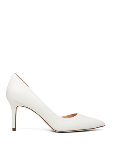Call It Spring Toppen Partial dOrsay Pumps-WHITE-8
