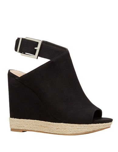 Call It Spring Ioppolo Espadrille Wedge Mule Sandals-BLACK-9