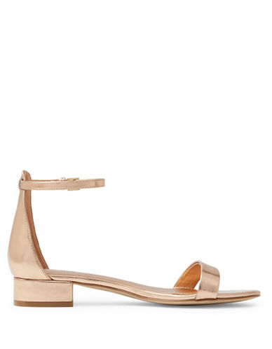 Aldo Angilia Suede Block Heel Sandals-GOLD-7