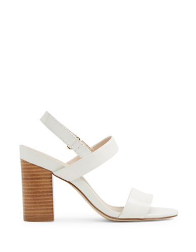 Aldo Juliett Two-Piece Block Heel Sandals-WHITE-7.5
