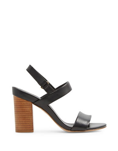 Aldo Juliett Two-Piece Block Heel Sandals-BLACK-8.5