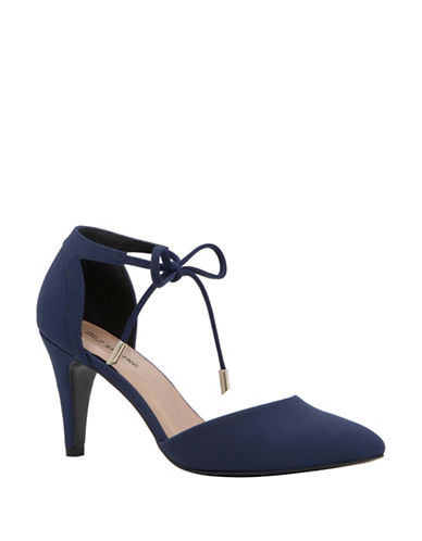 Call It Spring Stute Ankle-Tie Mid-Heel Pumps-BLUE-10