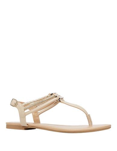 Call It Spring Bronzola T-Strap Sandals-BEIGE-7