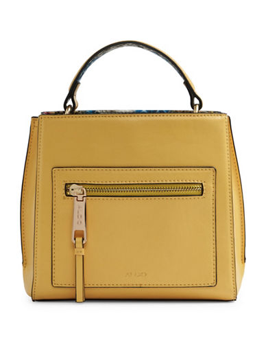 Aldo Astoille Snake-Embossed Satchel-YELLOW-One Size
