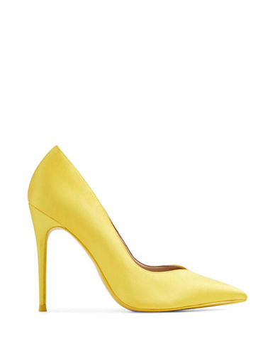 Aldo Aleani Pointed Toe Pumps-YELLOW-9