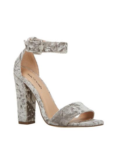 Call It Spring Arther Block Heel Sandals-GREY-7