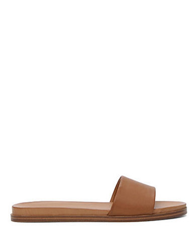 Aldo Fabrizzia Flat Slide Sandals-COGNIAC-8.5