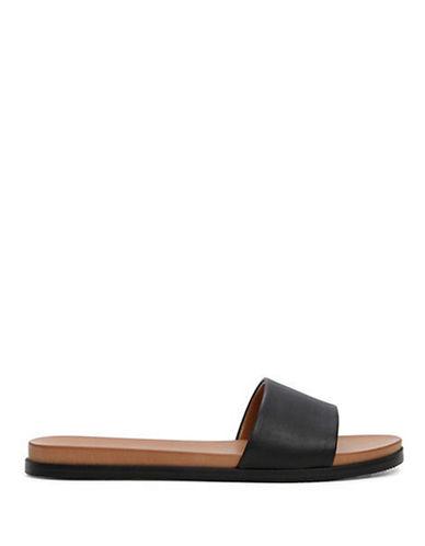 Aldo Fabrizzia Flat Slide Sandals-BLACK-6.5