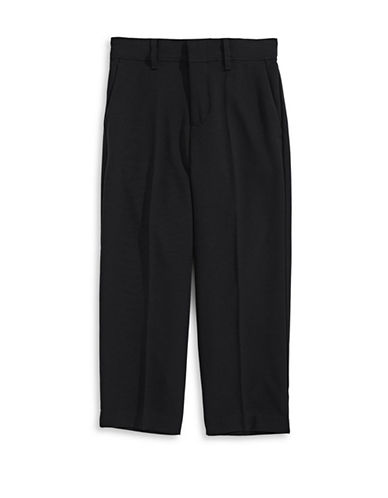 Calvin Klein Flat Front Pull-On Pants-BLACK-5