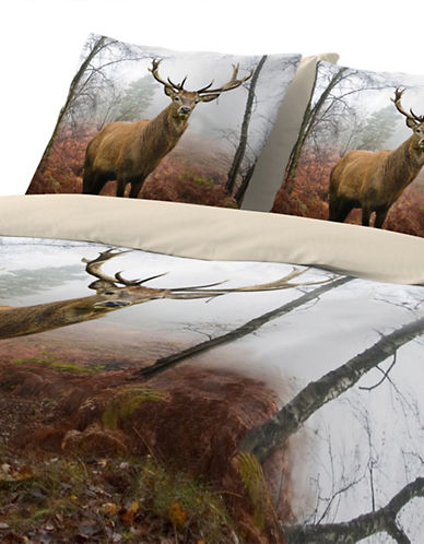 Gouchee Design Deer Three-Piece Queen Duvet Cover Set-MULTI-King