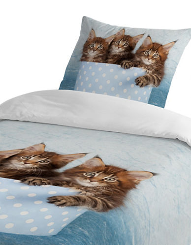 Gouchee Design Maine Coon Cats Three-Piece Queen Duvet Cover Set-MULTI-Queen