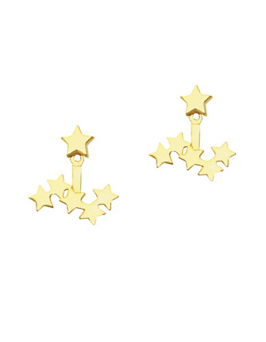 Foxy Originals Cosmic Front Back Jacket Earrings-GOLD-One Size