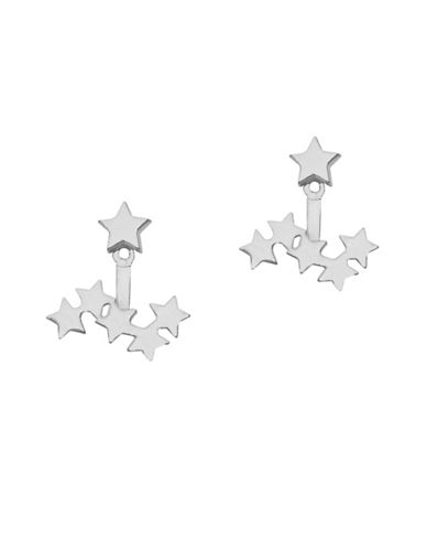 Foxy Originals Cosmic Front Back Jacket Earrings-SILVER-One Size