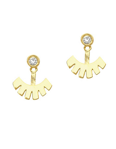 Foxy Originals Jasper 14K Goldplated Jacket Earrings-GOLD-One Size