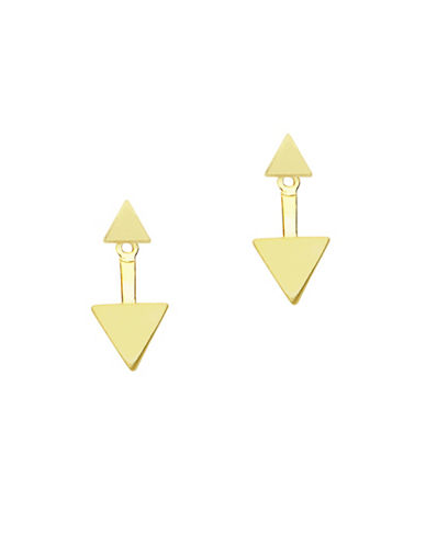 Foxy Originals Minx 14K Goldplated Jacket Earrings-GOLD-One Size