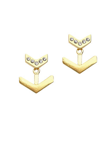 Foxy Originals Pixie Arrow Jacket Earrings-GOLD-One Size