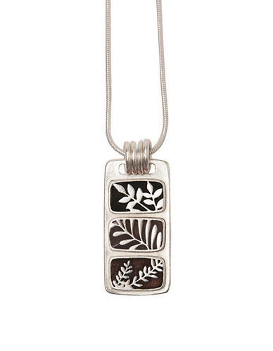 Foxy Originals Jade Silverplated Necklace-BLACK-One Size