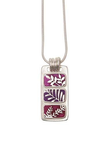 Foxy Originals Jade Silverplated Necklace-PURPLE-One Size