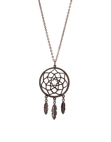 Foxy Originals Dreamcatcher Bronzeplated Necklace-BRONZE-One Size