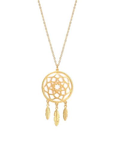 Foxy Originals Dreamcatcher Bronzeplated Necklace-GOLD-One Size