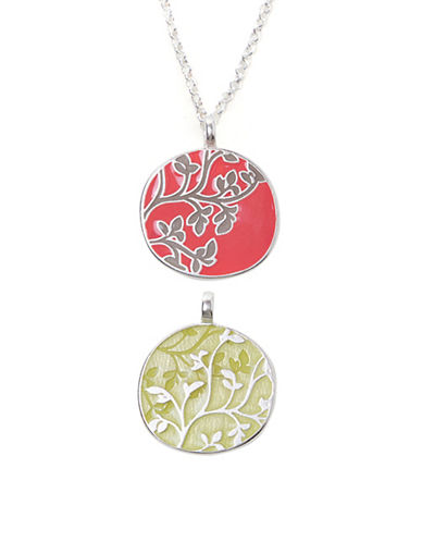 Foxy Originals Everly Silverplated Reversible Necklace-CORAL-One Size