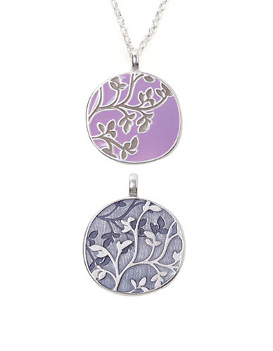 Foxy Originals Everly Silverplated Reversible Necklace-PURPLE-One Size