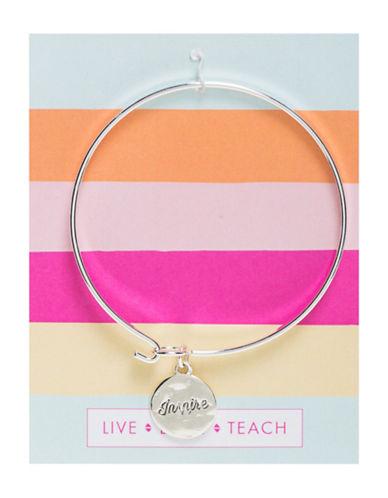 Foxy Originals Inspire Teacher Bangle Bracelet-SILVER-One Size