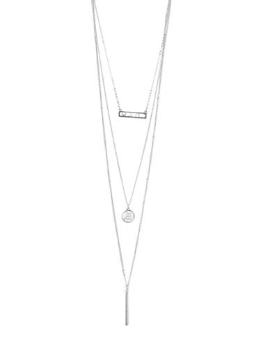 Foxy Originals Live Your Dream Silverplated Convertible Necklace-SILVER-One Size