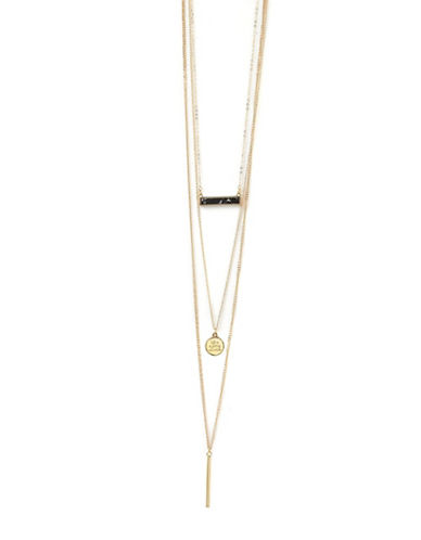 Foxy Originals Adventure 14K Goldplated Convertible Necklace-GOLD-One Size