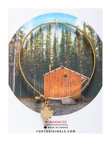 Foxy Originals Maple Leaf Bangle Bracelet-GOLD-One Size