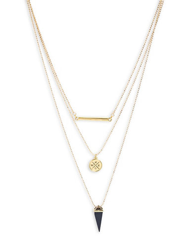 Foxy Originals Journey Multi-Layered Necklace-GOLD-One Size