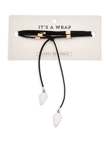 Foxy Originals Leather Wrap-Choker Necklace-SILVER-One Size