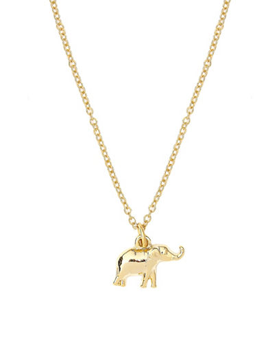 Foxy Originals Sweet Notes 14K Goldplated Elephant Necklace-GOLD-One Size