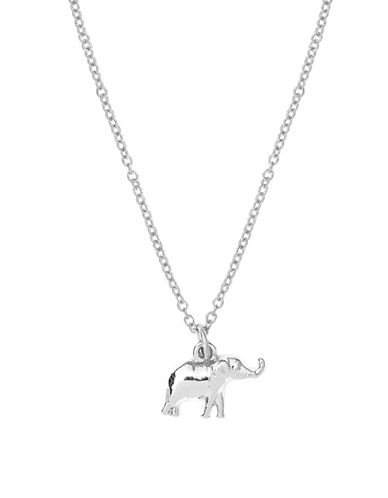 Foxy Originals Sweet Notes Silverplated Elephant Necklace-SILVER-One Size