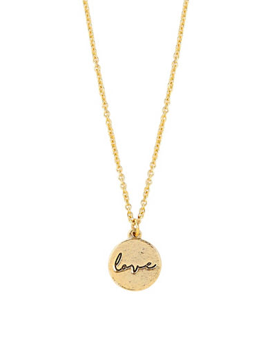 Foxy Originals Sweet Notes 14K Goldplated Love Necklace-GOLD-One Size